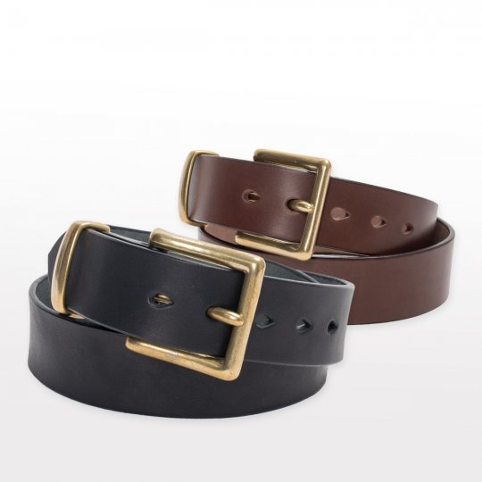 "Heavy Duty ""Tochigi"" Leather Belts - Black and Brown"