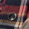 Indigo Dyed 10oz Check Selvedge Flannel Western Shirt