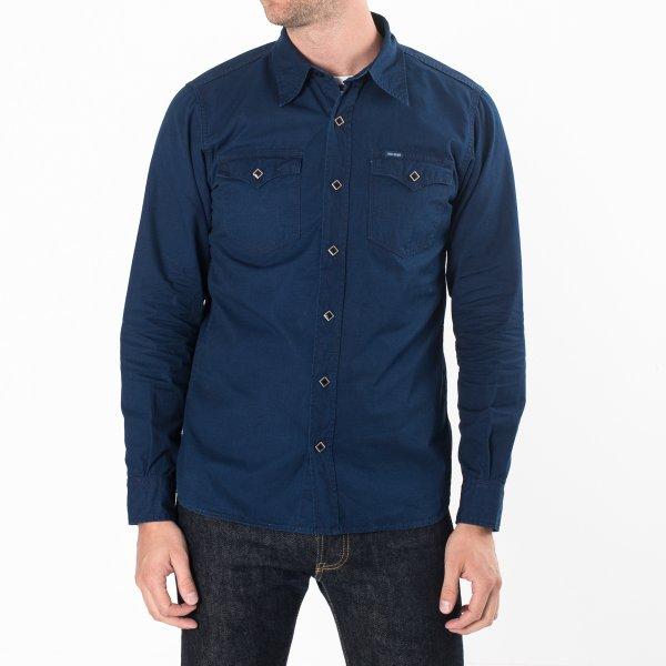 Indigo Rip Stop Single Yoke Western Shirt
