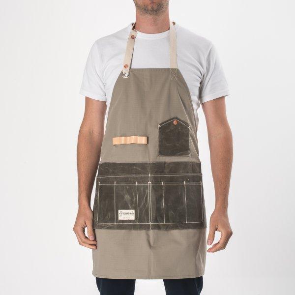 FAITH co. Ripstop Nylon Apron with Waxed Canvas Pockets