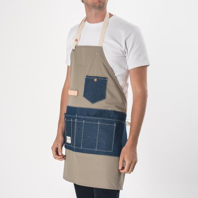 FAITH co. Ripstop Nylon Apron with Denim Pockets