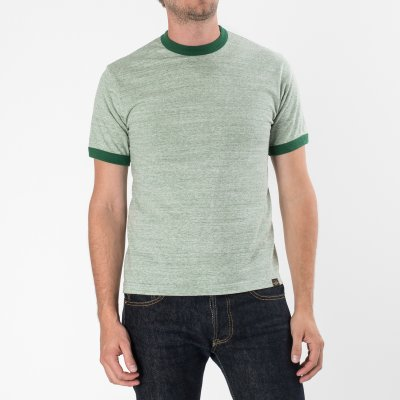6oz Loopwheel Ringer T-Shirts in Green