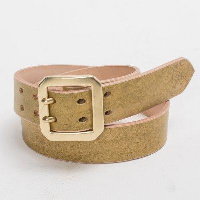 OGL Citrine Double Prong Leather Belt
