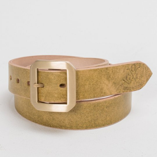 OGL Citrine Single Prong Leather Belt