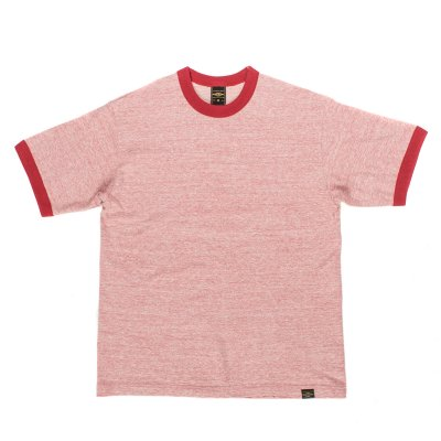 6oz Loopwheel Ringer T-Shirts in Red