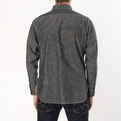 Black 10oz Selvedge Chambray Work Shirt