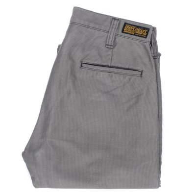 Grey Cotton Whipcord Work Pants
