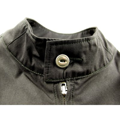 "Ventile ""Harrington"" Windbreaker - Charcoal and Beige"