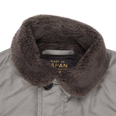 Grey Alpaca Lined Whipcord N1 Deck Vest
