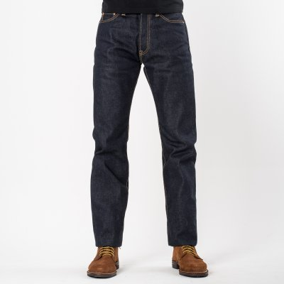 Indigo UHR 21/23oz Selvedge Denim Medium/High Rise Tapered Cut