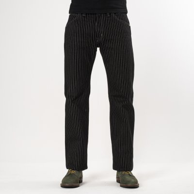 Black 21oz Wabash Single Knee Logger Pants
