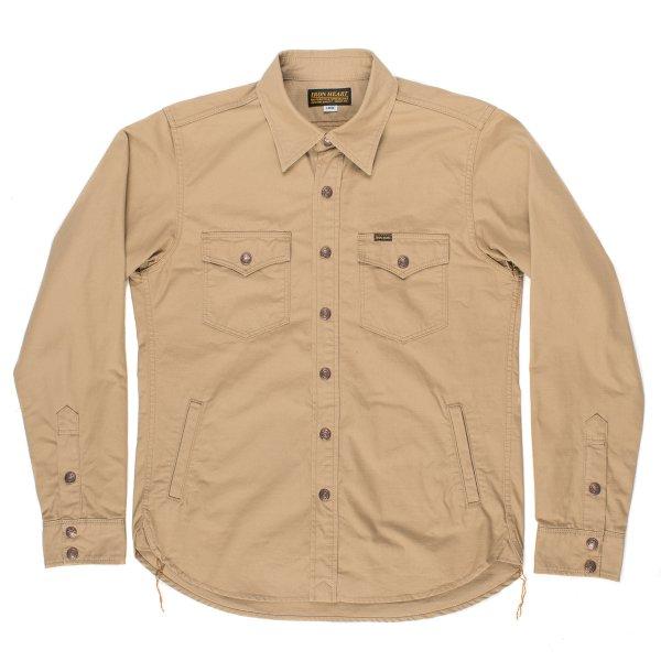 Khaki Cotton Ripstop CPO Shirt