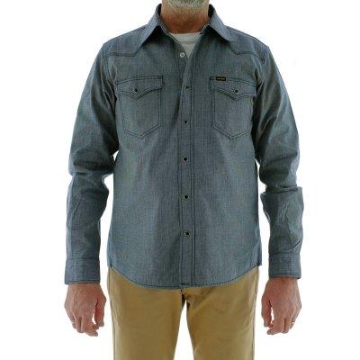 Indigo Dyed Pin Check Western Shirt