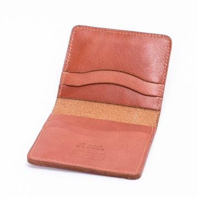 OGL Condor Slim Line Wallet with Outer Bill Pocket in Brick