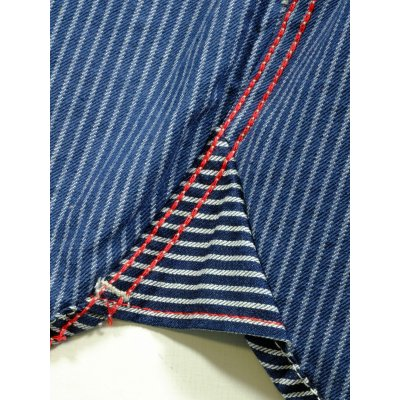 Indigo Dyed Hickory Stripe Work Shirt