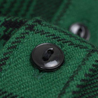 Green/Black Ultra Heavy Flannel Glen Check Work Shirt