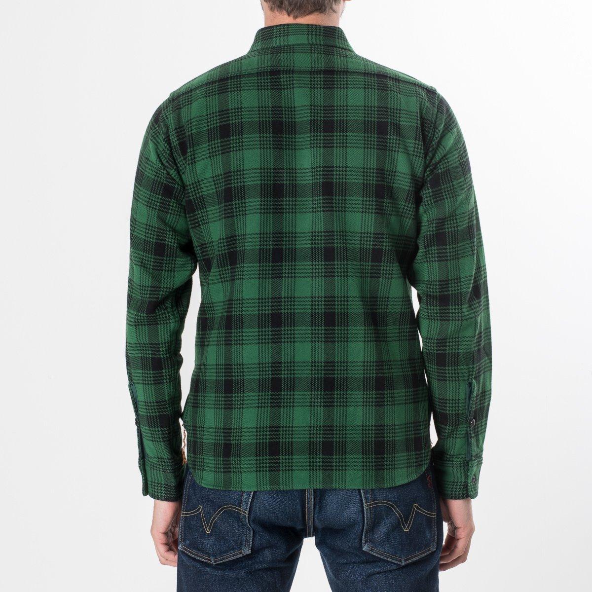 a70d236a1 IHSH-190-GRN | Iron Heart Ultra Heavy Japanese Cotton Flannel Green ...