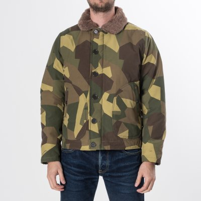 Camouflage Quilted N1 Jacket with Alpaca Lined Collar