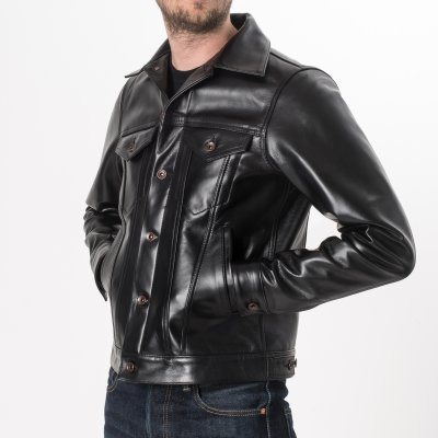 Black Horsehide Modified Type III Jacket