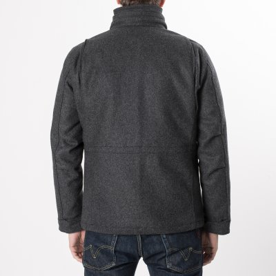 Grey Selvedge Melton Wool M65 Field Jacket