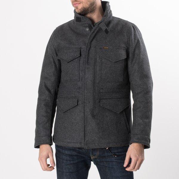 Grey Selvedge Melton Wool M65 Field Jacket
