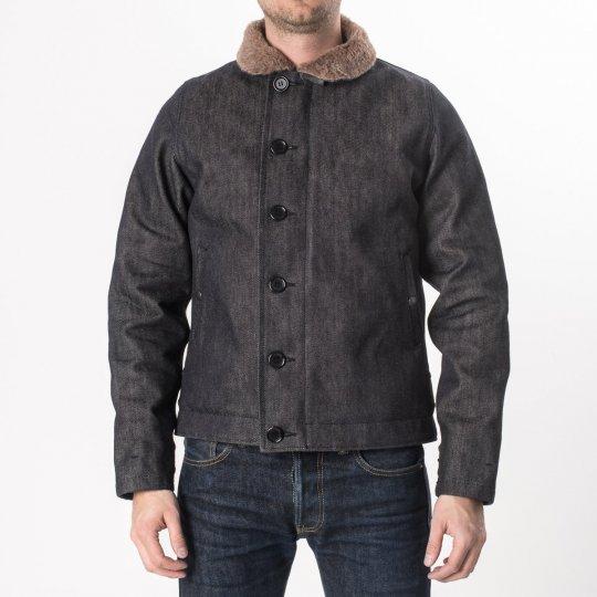 Alpaca Lined Indigo 21oz Selvedge Denim N1 Deck Jacket