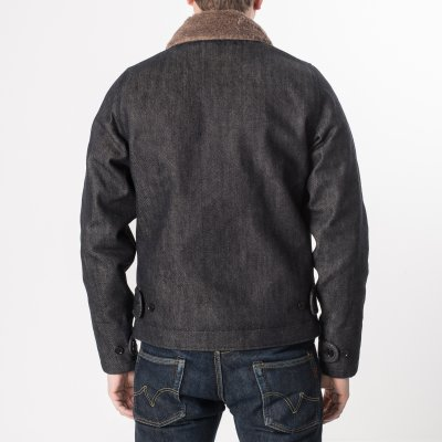 Alpaca Lined Indigo 21oz Selvedge Denim N1 Deck Jacket