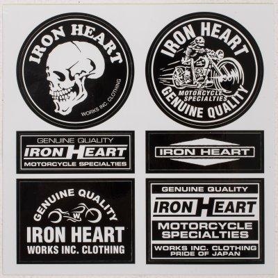 Black Iron Heart Stickers