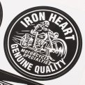 Black Iron Heart Stickers