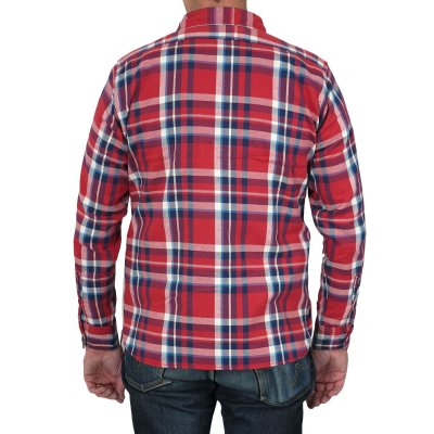 Medium Weight Flannel Work Shirt - Brushed Reverse