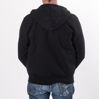 Black Ultra Heavy Plain Hooded Sweat