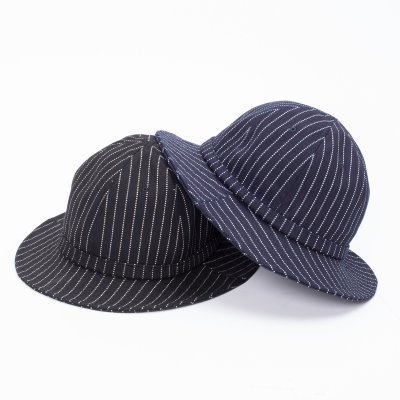 12oz Wabash Bucket Hat - Black and Indigo