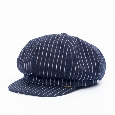 12oz Indigo Wabash Baker Boy Cap