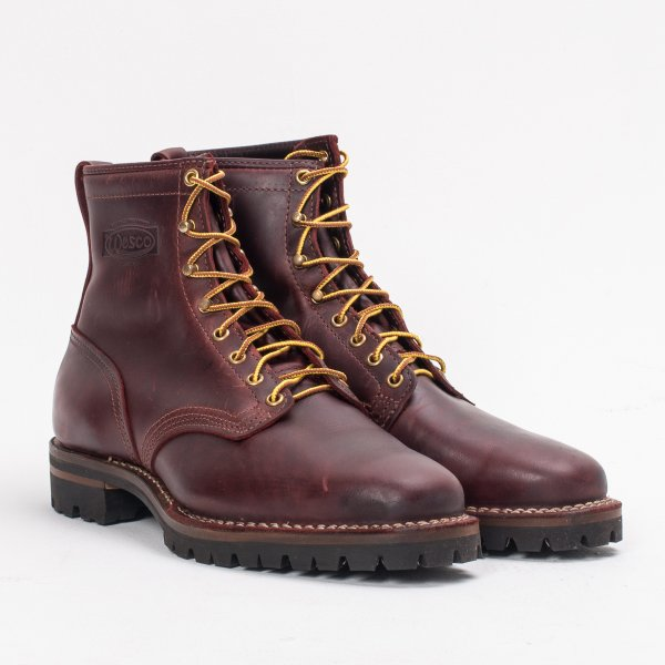 """Iron Heart Int'l x Wesco® - 8"""" Smooth-Out Walking Boot - Burgundy"""