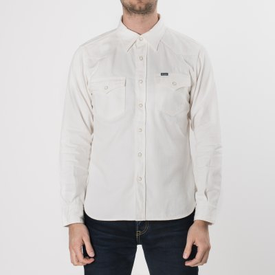 White 7oz Selvedge Denim Western Shirt