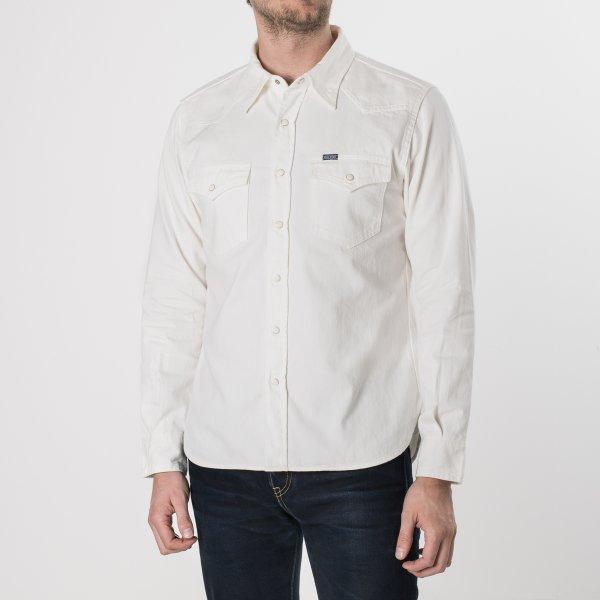 White 7oz Selvedge Denim Western Shirt