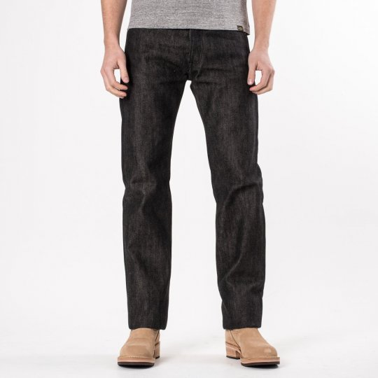 Black / Beige 21oz Selvedge Denim Straight Cut Jean