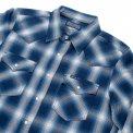 Indigo Check Flannel Western Shirt