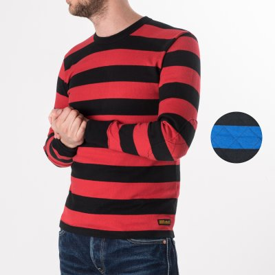 11oz  Knitted Cotton Long Sleeved Sweater with Padded Elbows