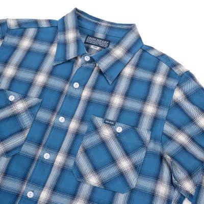 Indigo Check Flannel Work Shirt