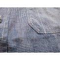 Indigo Dyed Houndstooth Chambray Work Shirt
