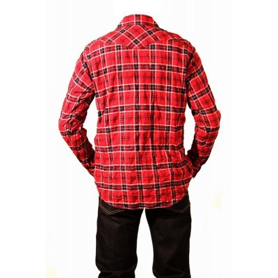 Mini Herringbone Check Western Shirt