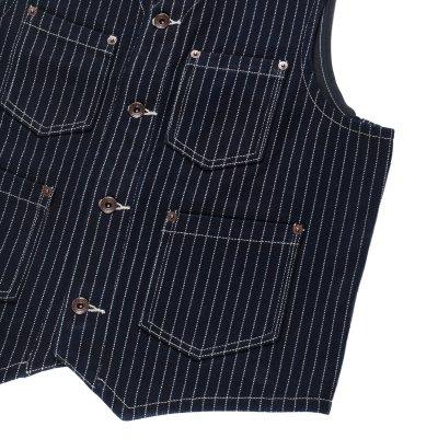 21oz Indigo Wabash/Navy Duck Work Vest