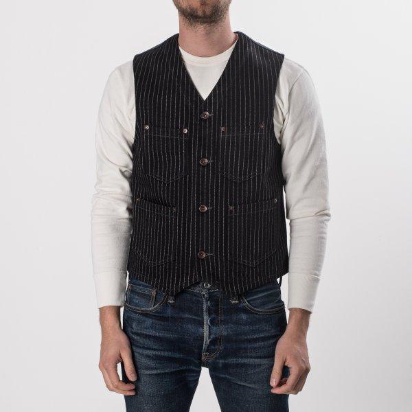 21oz Black Wabash/Black Duck Work Vest