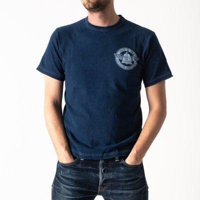 Indigo/White Overdyed 6.5oz Loopwheel T-Shirts