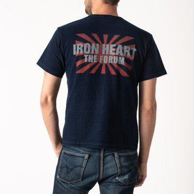 Indigo/Grey Overdyed 6.5oz Loopwheel T-Shirts