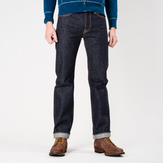 Indigo 18oz Raw Selvedge Denim Slim Cut