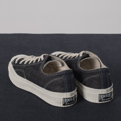 21oz Indigo Denim Low-Top Sneakers
