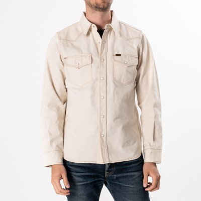 White 10oz Selvedge Chambray Western