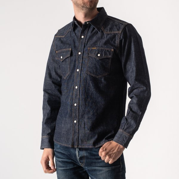 Indigo 10oz Selvedge Chambray Western